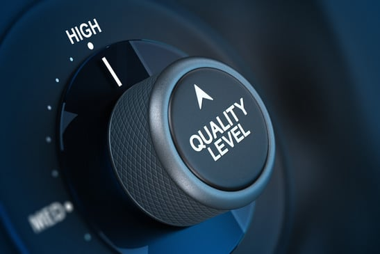 Quality level wheel knob set to high